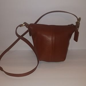 Coach camel brown small leather purse C5H-4130